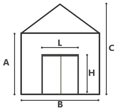 dimensions de la serre