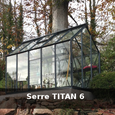 serre titan en verre belle finition