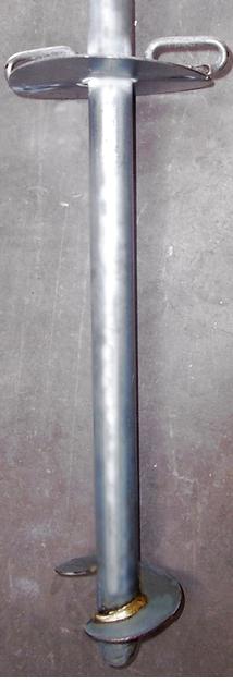 fixation contre le vent ancrage de serre tunnel par épée à vrille