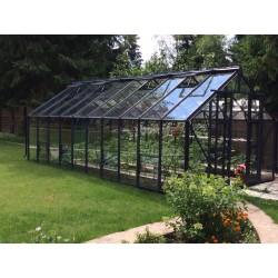 serre avec verre trempé pour jardin et salon d'hiver