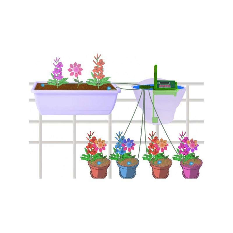kit d 39 irrigation automatique 10 plantes avec pompe et programmateur arrosage vacances ou. Black Bedroom Furniture Sets. Home Design Ideas
